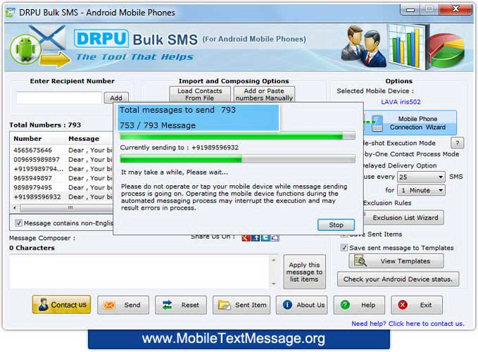 Windows 7 Android Mobile Text Messaging Software 9.0.1.2 full
